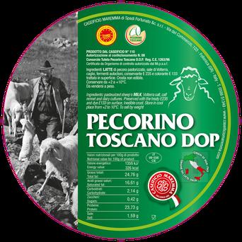 frischer Schafskäse aus der Toskana G.U. Region, zertifizierter Pecorino