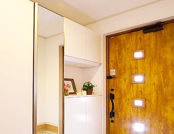 玄関姿見鏡 大型鏡の調査・施工・撤去