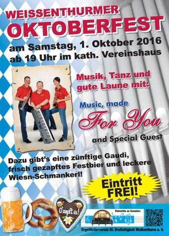 Oktoberfest 2016, Orgelföderverein, Klais-Orgel, Hl. Dreifaltigkeit