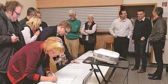 Gründungsunterschriften, Orgelförderverein, Klais-Orgel