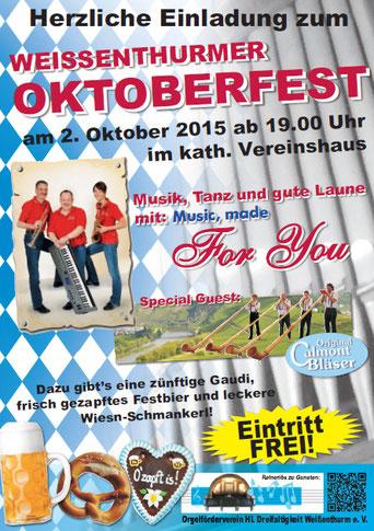 Oktoberfest 2015, Orgelförderverein, Klais-Orgel, Hl. Dreifaltigkeit