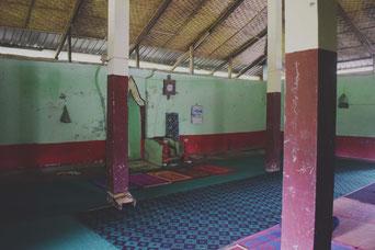 ミャウー近郊のロヒンギャの村にあるモスク