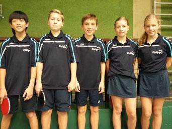 In starker Form: (v.l.) Caleb The, Frederik Haake, Philipp Freund, Isabell Klaus und Vanessa Klaus