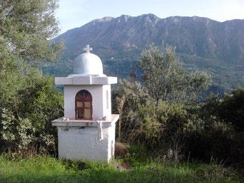 Lefkada, Elati-Gebirge