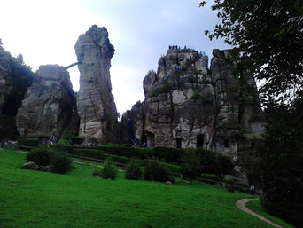 Ausflug zu den Externsteinen im Teutoburger Wald