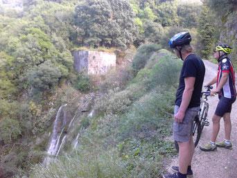Wasserfälle von Nymfes nach starkem Regen