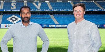 Daniel Thioune (l.) und sein Co-Trainer Merlin Polzin (r.)                     Foto: Witters