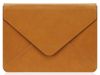 """Schmucke Laptophülle aus Leder von der Marke """"Plemo"""""""