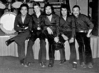 van links naar rechts: Chris van Eldik, Joop Hellebrekers, Ronald Keyner, Lex van Eldik, Ronny Domingus.