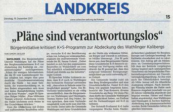 Quelle: Cellesche Zeitung, 19.12.2017