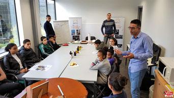 Atelier organisé par Élan Solidarité Vélizy (ESV).