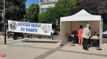 Dépistage du diabète par le Lion club Vélizy et LIDER Diabète.
