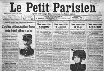 La Une du journal Le Petit Parisien, le 19 avril 1911.