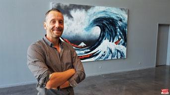 Éric Citerne au Centre d'art contemporain de Vélizy.