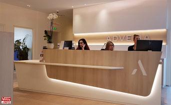 L'accueil d'Advetia Vélizy.
