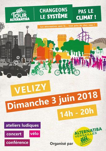 Tour Alternatiba à Vélizy, le dimanche 3 juin 2018.