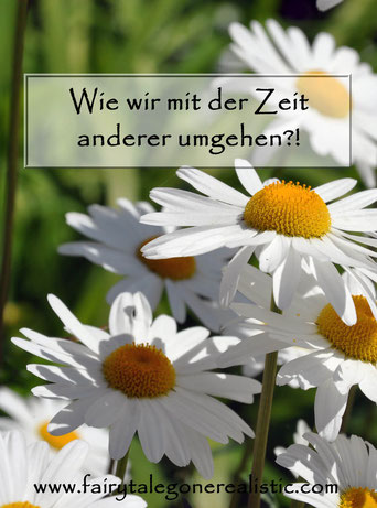 respektvoller Umgang mit Zeit - Zeit verschwenden - Margeriten - Blumenwiese - Gesellschaftskritik - Lifestyle - Blog Deutschland - Fairy Tale Gone Realsitic