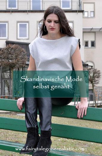 Skandinavische Mode selbst genäht Buch Nähen DIY Top Transparenz Outfit Modeblog Fairy Tale Gone Realistic DIYblog Deutschland