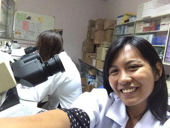 Selfie with microscope...