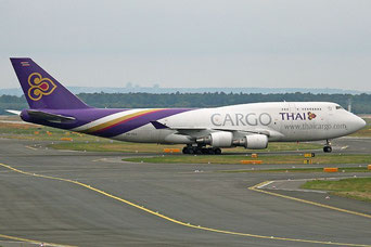 Soon out of service - one of Thai's 747-400 freighters  /  company courtesy