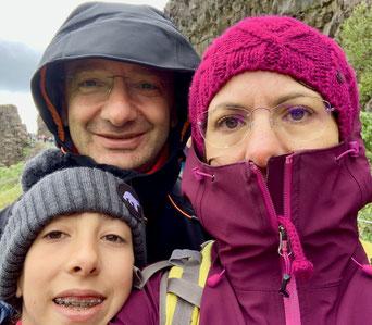 Noi tre al Thingvellir. Foto di Alessia Paionni