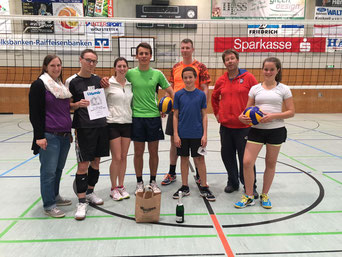 Mannschaft 2: v.l.n.r. Andrea Bader, Arne Spitzer, Katrin Breunig, Simon Deuchert, Florian Kaiser, Peter Deuchert, Thomas Zopick, Eva Deuchert