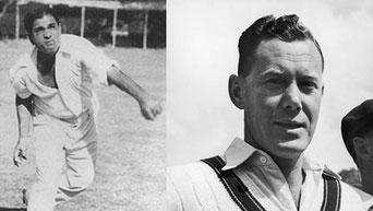 Vinoo Mankad (l) & Bill Brown (r)