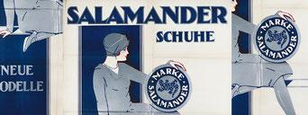 Bild: Plakat des Schuhherstellers Salamander aus dem Jahr 1928. / Kurt Libesny (Public Domain)
