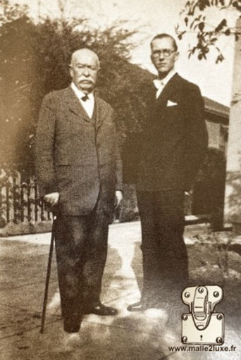 Georges Vuitton (72 years old) and Henry Vuitton (18 years old) California 1929