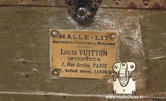 Malle-Lit Brevetée en France et a l'étranger Louis Vuitton  Inventeur 1 rue scribe Paris 289, Oxford street London