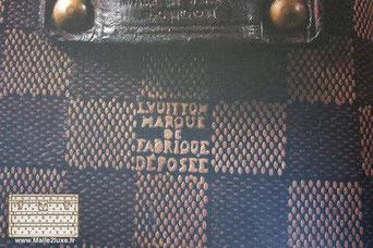 canvas checkerboard georges vuitton trunk
