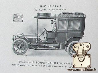 Georges Louis Vuitton automobile trunk