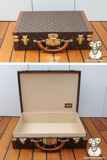 despatch box valise Louis Vuitton vide vintage