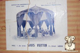 Exposition universelle Paris 1900 Gr. XV CI 99 Hors concours Expert du jury Louis Vuitton Paris 1 rue du scribe 454 Strand London