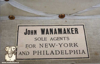 Etiquette agent  John wanamaker Sole agents for New-York And philadelphia
