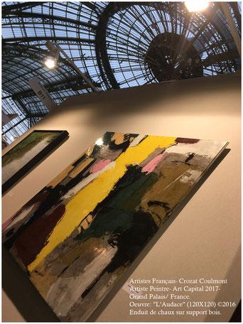 Peinture Abstraite Contemporaine, Le Peintre Crozat Coulmont- Couleurs et Matières d'Art