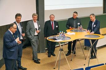 Diskutierten beim 4. Regensburger Energiekongress über Konzepte der betrieblichen Eigenversorgung: Johannes Rauch / OTH Regensburg