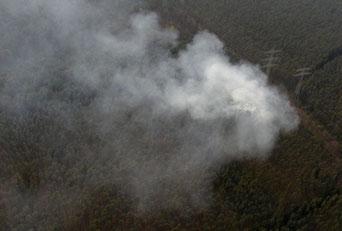 Foto: Luftrettungsstaffel, Waldbrand