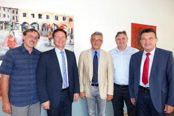 Erstes Treffen mit dem neuen Bereichsleiter …(von links Ralf-Peter Hoffmann, OB Thomas Thumann, Norbert Biller, Matthias Seemann, Josef Gilch)