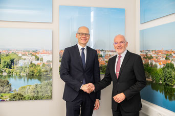 Prof. Dr. Niels Oberbeck (links) und Prof. Dr. Michael Braun (rechts)