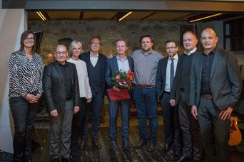 v. links: Silke Zeiger, Roland Feierle, Gudrun Berschneider, Johannes Berschneider, Rico Lehmeier, Manuel Luber, Christian Rein, Andreas Schmid, Peter Mederer