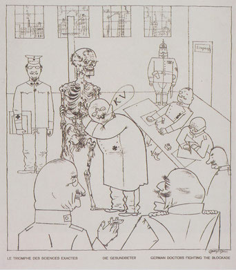 George Grosz, Die Gesundbeter (Le triomphe des sciences exactes – German Doctors Fighting the Blockade), 1918 Staatl. Museen zu Berlin, Kupferstichkabinett