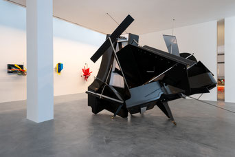 "Sebastian Kuhns ""Polyrhythmic Walkabout"" von 2008 im Museum Lothar Fischer. Foto: Andreas Pauly"