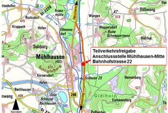 Kartenausschnitt: Bayerische Vermessungsverwaltung