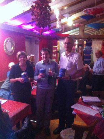 Die drei Gewinner: Ellen Endig, Andreas Leonhardt und Hans-Werner Neumann; Foto:  Benedikt Schnuchel