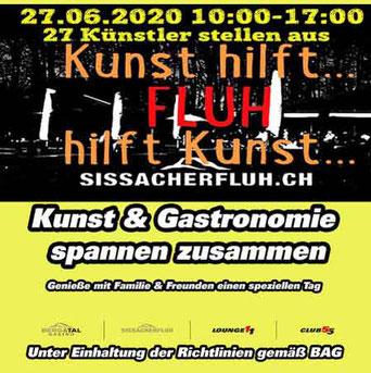 Kunst hilft Fluh, Fluh hilft Kunst: 27. Juni 2020, Sissach mit Dominique Steiger, Basel