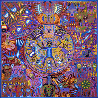 Tableau traditionnel Huichol