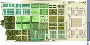 Jardins des Tuileries, dessin de Gilles Brémond