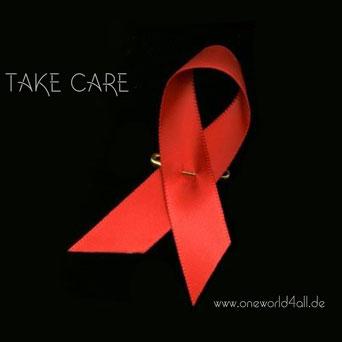 Bild: Foto:  Kampf gegen Aids, Aidsschleife, Oneworld4all.de