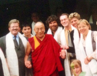 Bild: Foto: Lissy Gröner, Reinhold Messner, Indien, Free Tibet, Audienz